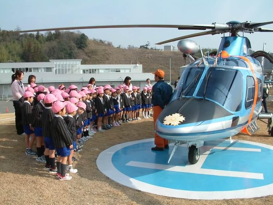 110番の日 ヘリコプターがやって来ました!