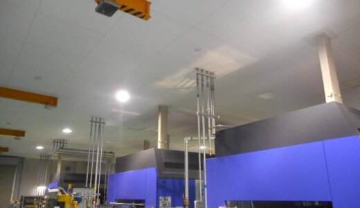 真空成形工場照明のLED化